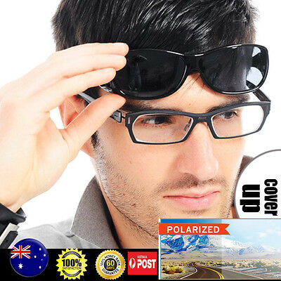 Outdoor Polarized Sunglasses fit over RX EYE Glasses for fishing Driving Riding
