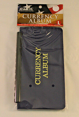 Currency Album - Holds Modern & Large U.s. Notes - 10 Clear Vinyl Pages