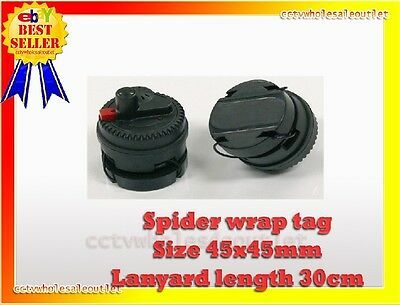 Security Spider Wrap Arlarm Sensor Tag 1 Pc Checkpoint® Compatible 8.2Mhz Black