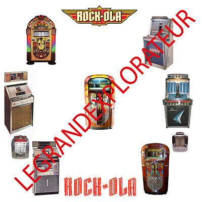 Rock-Ola Jukebox Owner Repair Service Manuals & schematics 300 PDF manual on DVD