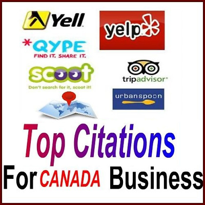 Your Business Citations in 25 TOP CANADA Local Directories, Google Friendly SEO