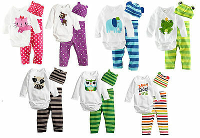 Baby Girls Boys Birthday Costume Jumpsuit Onesie PJ Warm Cute Romper size 00 0 1