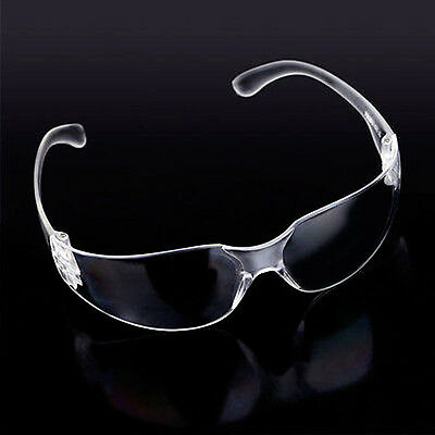 Clear Safety Vented Goggles Glasses Eye Protection Protective Lab Anti Fog Dust