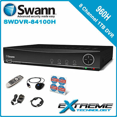Swann DVR8-4100 8 Channel 960H 1TB Digital Video Recorder - SRDVR-84100H