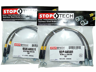 Stoptech Stainless Steel Braided Brake Lines (Front & Rear Set / 44001+44501)