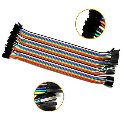 40pcs/Row Female to Female 20cm 2.54mm 1P-1P Jumper Wire Cable