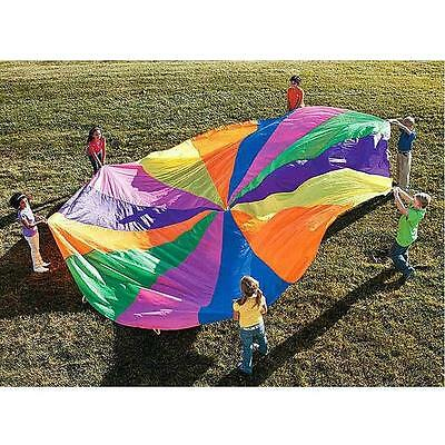 12ft / 3.6 Meter Kids Play Rainbow Parachute Outdoor Game Exercise Sport E