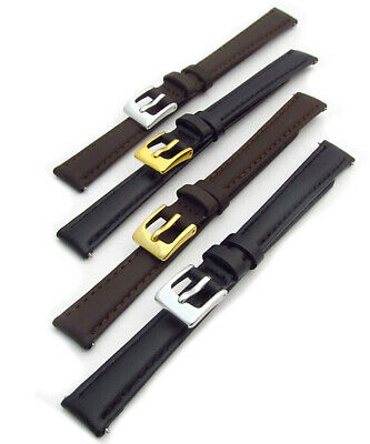 Ladies Soft Genuine Leather XL Extra Long Watch Strap Band Choice of colour D002