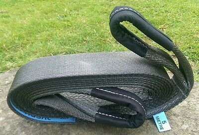 5M 4X4 Recovery Winch Extension Tow Towing Rope Strap Tree Strop 7 Ton Offroad