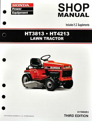 Honda HT3813 HT4213 Lawn Tractor Mower Service Repair Shop Manual