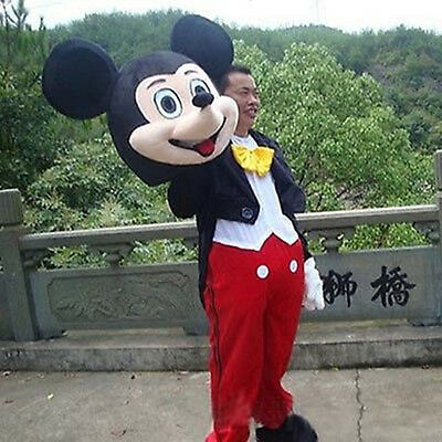 Adult Mickey Mouse Costume Character Cartoon Mascot Outfit New Disney & GOOD!! ADULT MICKEY Mouse Costume Character Cartoon Mascot Outfit ...
