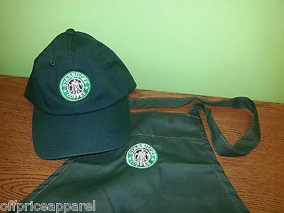 Unique Starbucks Halloween Costume barista apron and hat set,both adjustable