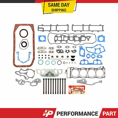 Oversize Thickness Full Gasket Set Head Bolts for 85-95 Toyota 2.4 22R 22REC