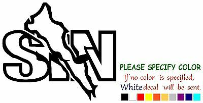 SINALOA SIN Mexico State Map Vinyl Decal Sticker Car Window laptop tablet 6""