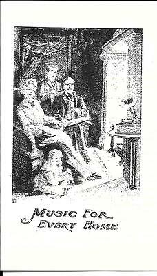 Music For Every Home (Edison)  - Advertisement & Information - Reprint