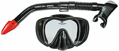 Land and Sea Black Marlin Mask and Snorkel set BRAND NEW