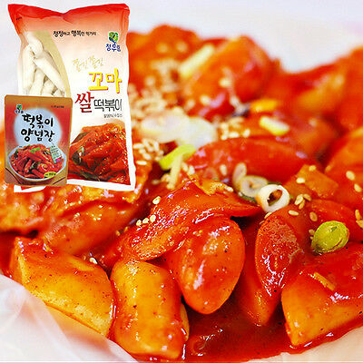 GANGWON Korean Traditional Food TTEOKBOKKI Sweet Sauce+Rice Cake snack,Not spicy