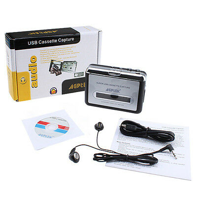 Tape to PC USB Cassette-to-MP3 Capture Audio Music Player New
