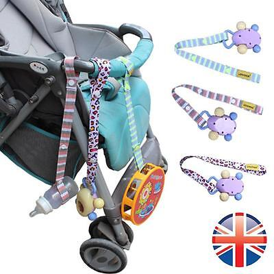 *UK Seller* 2 X Toy Ties Pushchair Buggy Seat Strap Keep Toys Attached