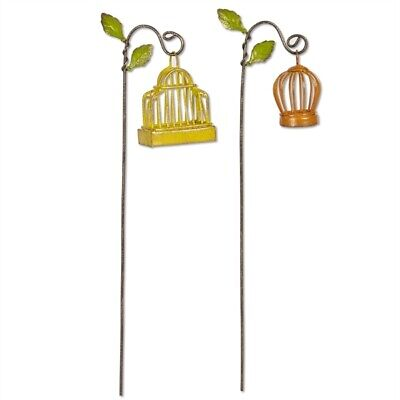 Fairy Garden Mini - Birdcages with Hooks Set of 2