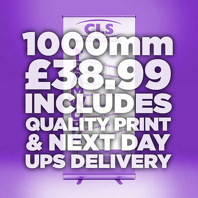 1000mm Roller Banner Roll//Pull Up Exhibition Stand INC PRINTED GRAPHIC