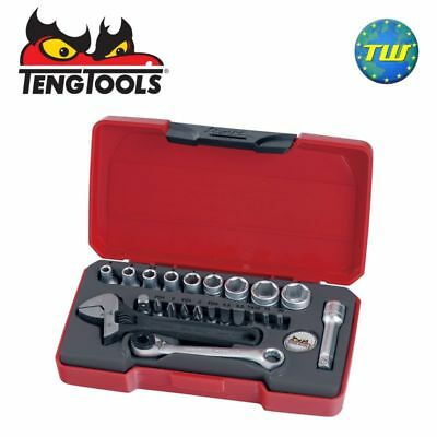 "Teng 23pc 1/4"" Drive Socket & Wrench Set T1423"