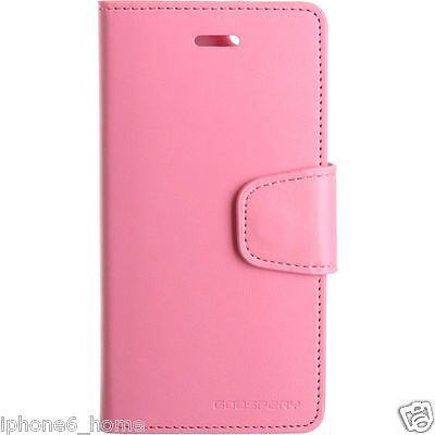 iPhone 5 5s and SE Genuine MERCURY Goospery Pink Leather Flip Case Wallet Cover