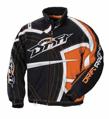 Drift Racing Men's RPM Snowmobile / Winter Jacket with Liner - Orange 5255-03*
