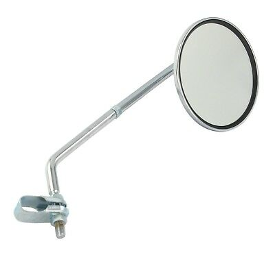 New Universal 8Mm Clamp-On Mirror For Mobility Scooters Chrome Finish
