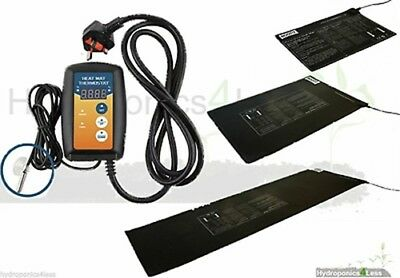Root It Hydroponics Heat Mats & Thermostat Heated Propagation Heaters All Sizes