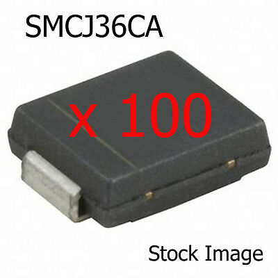 100 x Fairchild SMCJ36CA Diode 36v 1500w TVS Surface Mount