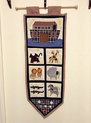 """Two by Two"" Bible Story Noah's Ark Banner, Wall Hanging"