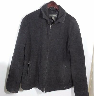 Banana Republic Gray Men's Wool Blend Winter Jacket Size Medium