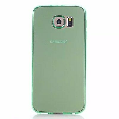 Samsung Galaxy S6 Case- Ultra Thin Green Soft TPU Gel Case