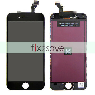 """Black LCD Display Touch Screen Digitizer Assembly Replacement For iPhone 6 4.7"""""""
