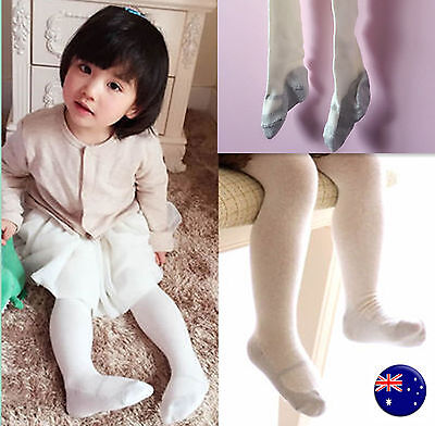 Girls Baby Kids Cotton Warm Ivory Bottoms Pants Tights Leggings Stocking 3-36m