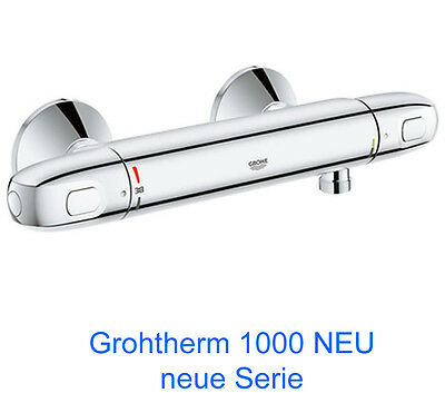 Grohe Grohtherm 1000 NEUE SERIE Thermostat Brausebatterie 34143003 Duscharmatur