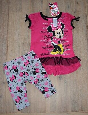 Girls Minnie Mouse set top leggins t-shirt summer spring BNWT size 1 2 3 4 5