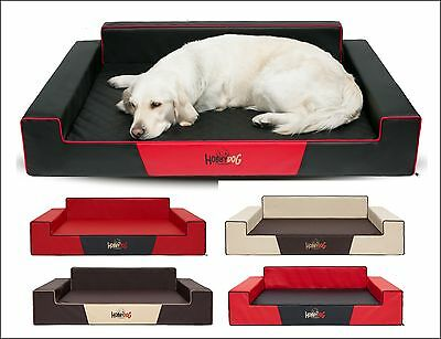 Thorough Solid Bed for Dog Glamour Faux Leather XXL Dogs Extra Large Sofa