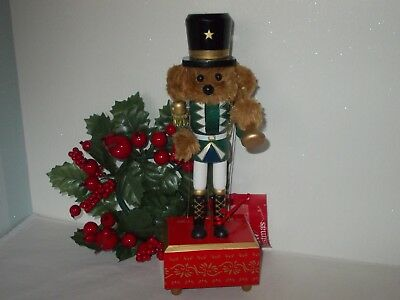"Teddy Bear Design Musical Nutcracker Soldier 12"" Tall Choice Of Design"