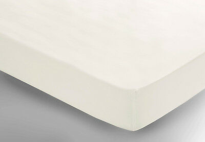 ELECTRIC BED 2FT62X6FT6inch(76cmx195cm)  Fitted sheet Polycotton Percale  IVORY