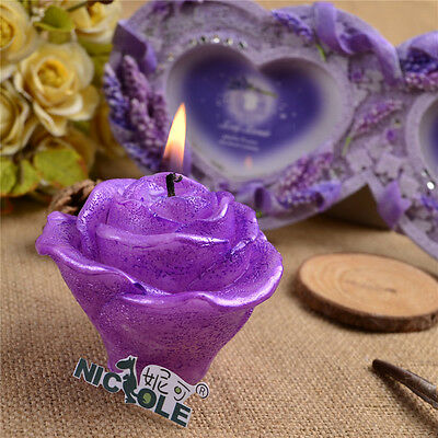 3D Rose Flower Silicone Candle Making Mold Soap Craft Polymer Clay DIY Chocolate