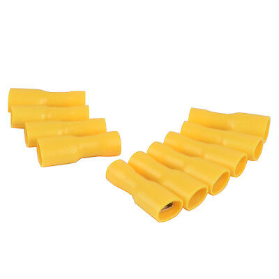 20pcs Yellow Electrical Insulated Female Spade Wire Terminal Connector 10-12 AWG