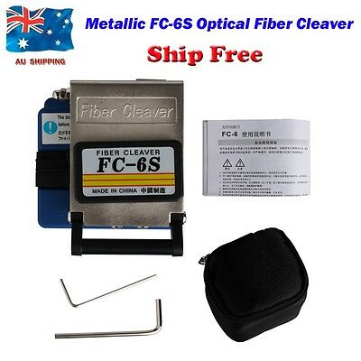 AU Shipping Metallic FC-6S Optical Fiber Cleaver Automatic Reset Cutting Tools