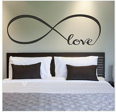 LOVE INFINITY wedding bedroom decoration vinyl wall sticker home decal  art