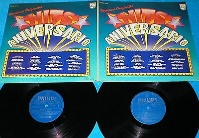 Hits Aniversario Spain Doble Lp 1978 Status Quo Ekseption Bobby Hebb Hotlegs