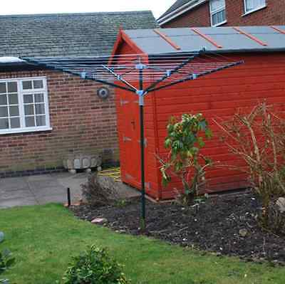 New Heavy Duty 4 Arm Rotary Clothes Airer / Dryer 50m Washing Line