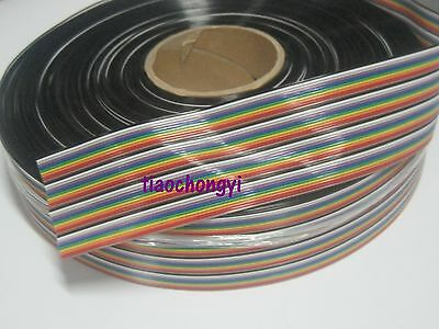 2M 6.56ft of 40 Way Flat Color Rainbow Ribbon IDC Cable wire For Arduino DIY