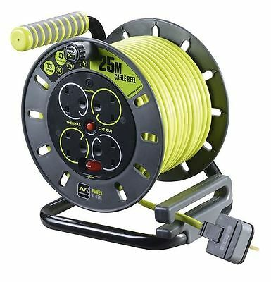 Masterplug OMU25134SL-PX 25m 4 Socket Electrical Cable Reel