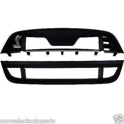 OEM NEW 2010-2014 Ford Mustang GT500 Upper and Lower Grille Front Bumper Shelby